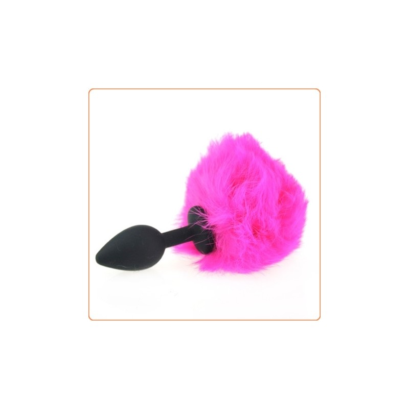 Wholesale Ball Tail Silicone Anal Plug - Black