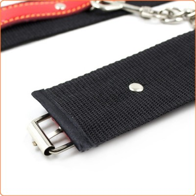Wholesale Pin Buckle Nylon Cuffs With Leather Belt