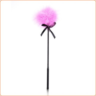 Wholesale Pink Fancy Feather Tickler With Ribbon