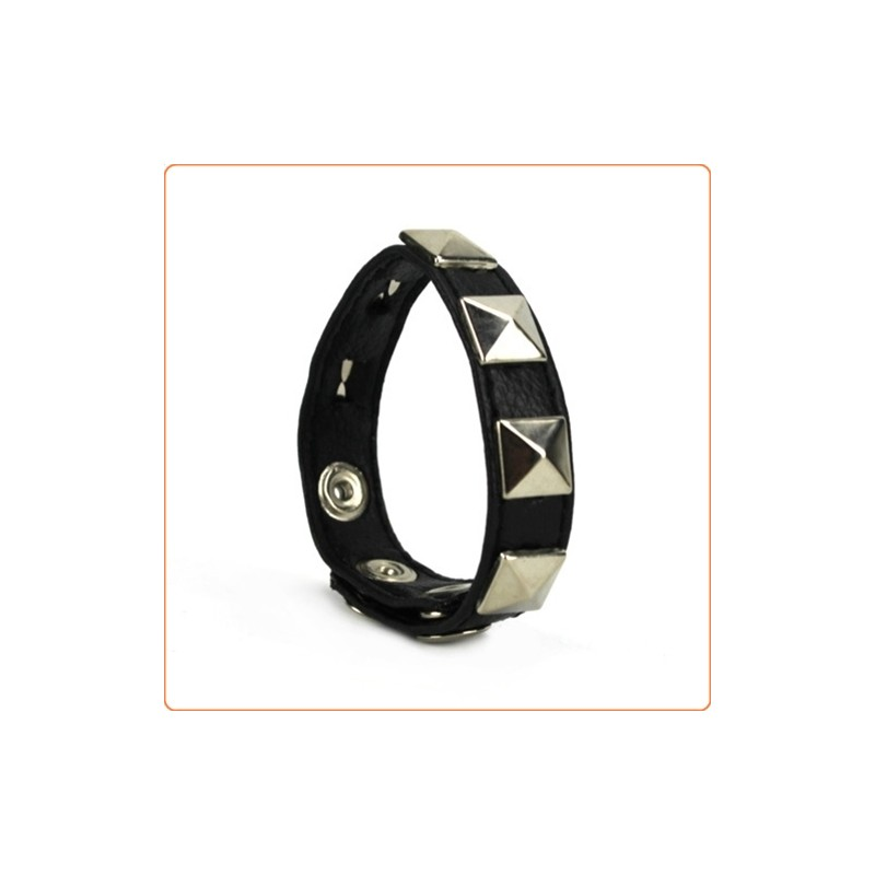 Wholesale Cock Ring with Pyramid Studs