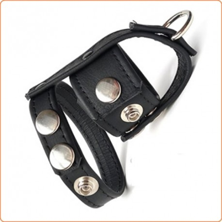 Wholesale Leather Cock Ring & Ball Divider