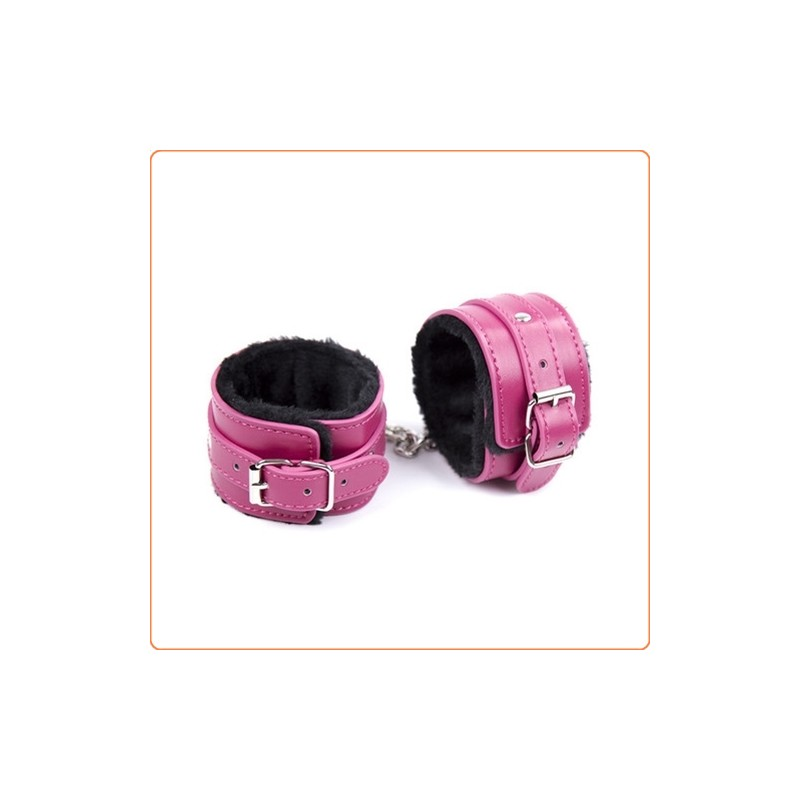 Wholesale Rose One Row Nail  Fur Lined Cuffs