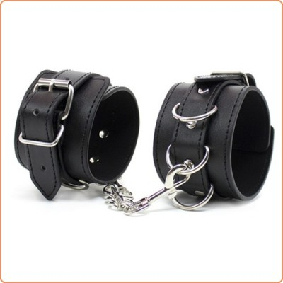 Wholesale Three D Ring Pin Buckle Wrist and Ankle Cuffs