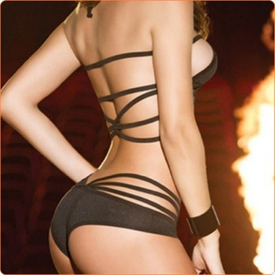 Wholesale Enchanting Hollow Out Sexy Bra & Panty Lingerie